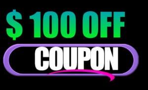 100 off coupon